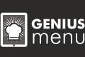 GeniusMenu - Website design with custom icons and main slider images. Logo created. Tablet and mobile application screen design.