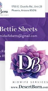 Desert Born Midwife Services - Logo and stationery design