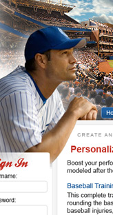 Major League Dreams website design