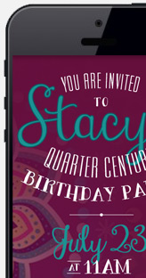 Text Event Invitation Graphics
